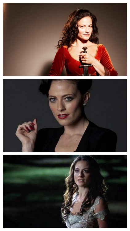 "ispyafamousface:  Lara Pulver might be ""The Woman"" (aka Irene Adler) to Sherlock Holmes on BBC's Sherlock, but to fans of HBO's True Blood she's Sookie's fairy godmother, and to fans of BBC's Robin Hood she was Guy of Gisborne's sister Isabella.  Thanks, untitledoddsandends! Follow us on Twitter @ISpyAFamousFace!"