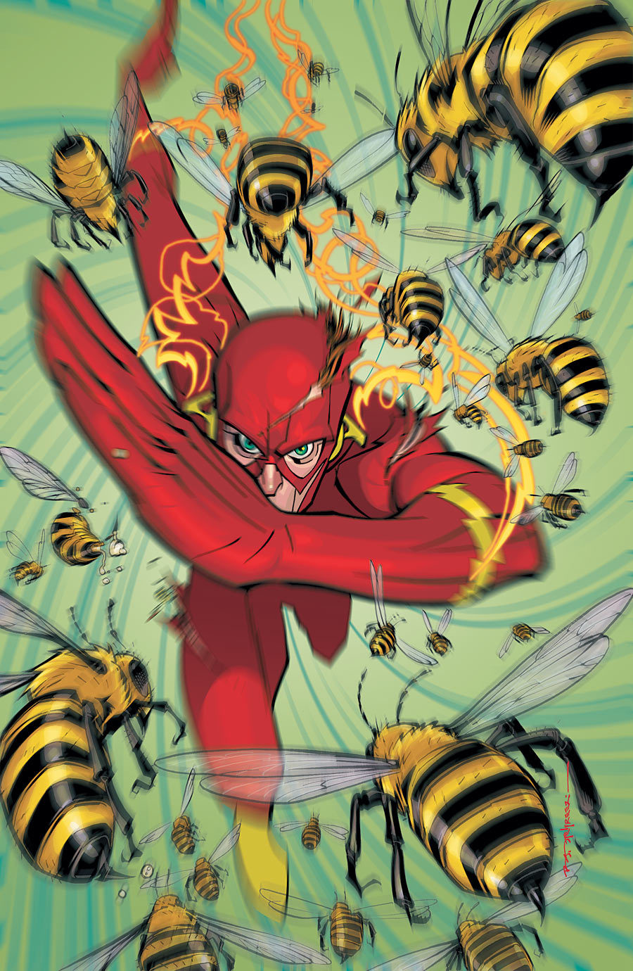 brian stelfreeze's flash. also, beeeeeeeeeeees!