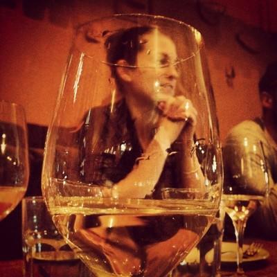 @sarahjillian gets into the wine.  (Taken with Instagram at Marben Restaurant)