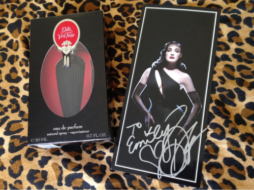 ♥ My Dita Von Teese perfume & my autograph from today! ♥
