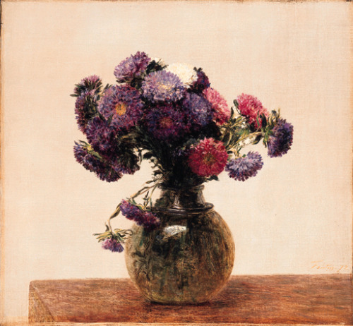 poboh: c 1872 Henri Fantin-Latour (French painter/lithographer, 1836-1904) ~ Reines Marguerites