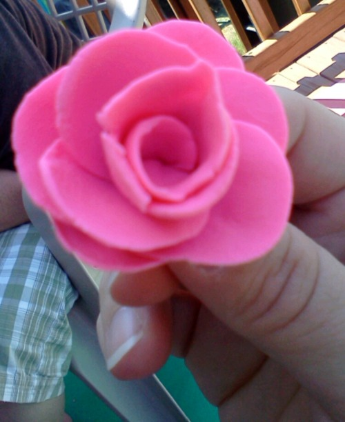 a play doh rose.  I surprised myself with my abilities.