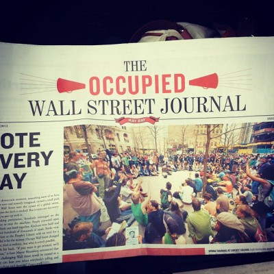 Sixth edition of the #occupywallstreet journal (Taken with instagram)