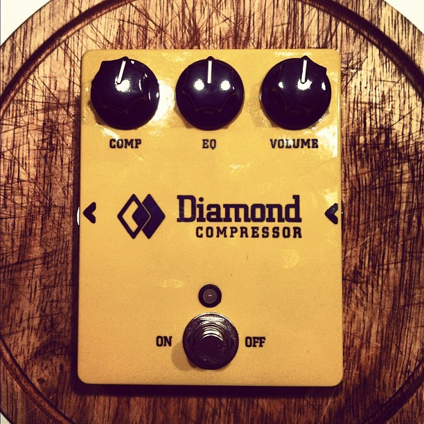 New pedal day. Diamond Compressor. Makes everything sound so much better. #pedals #pedalboard #diamond #compressor #pedaljunkie (Taken with instagram)
