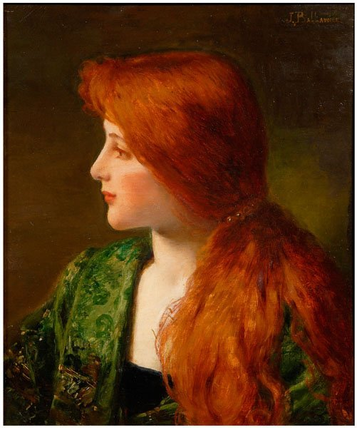 Jules Frederick Ballavoine (1833-1901) - Profile of a woman