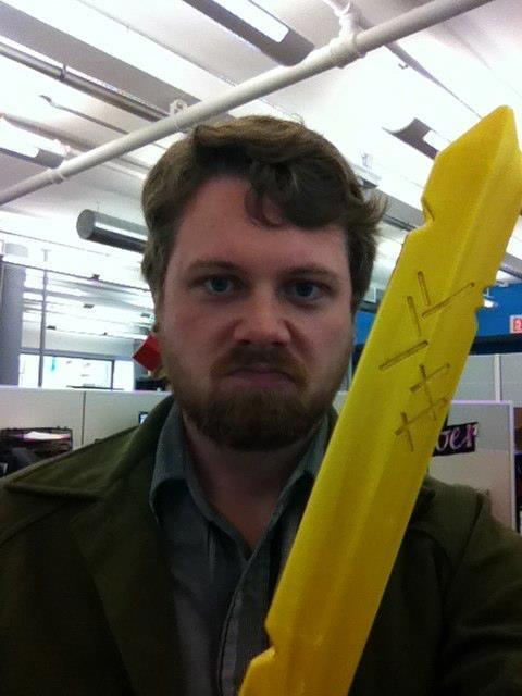 They gave me a Finn sword at work to deal out office justice