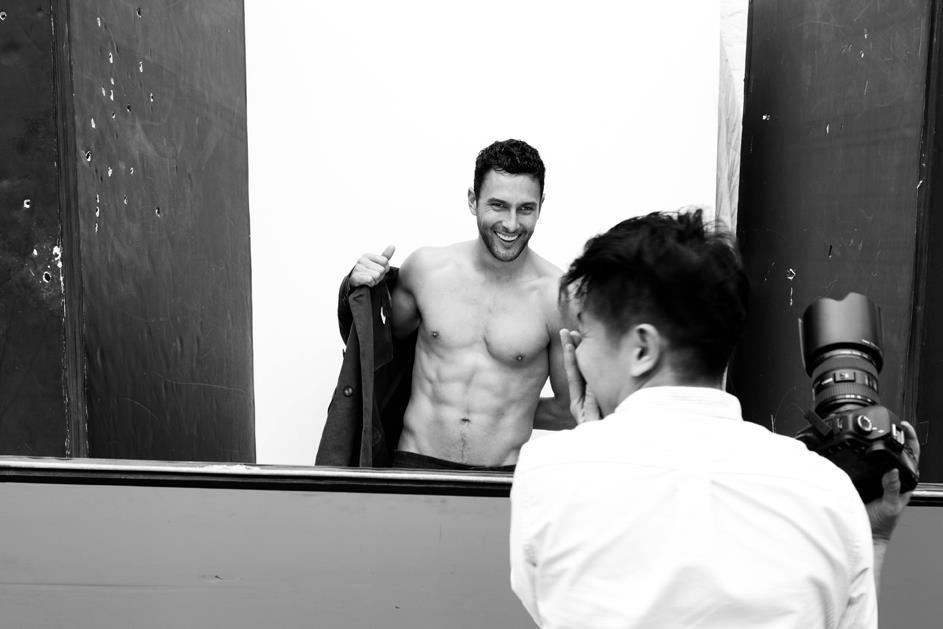 "love-that-model:  ""Noah Mills in front of the lens of Chiun-kai Shih"" Check more behind the scenes photos from AUGUST Man's latest cover shoot here."