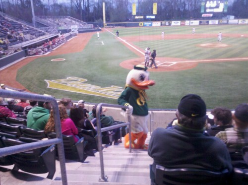 Ducks baseball game