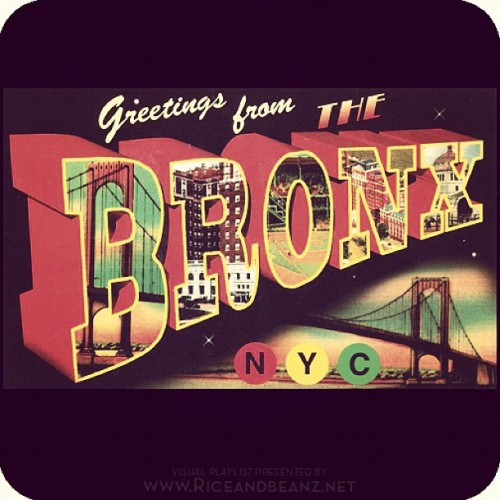 """Greetings from the Bronx"" postcard (artist unknown) ______________________________________ #Bronx #NewYork #vintageBronx #vintage #Retro #riceandbeanz #santiago  (Taken with instagram)"