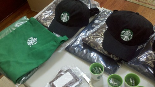 Have to get some packages out this week. Just received some Starbucks goodies I'm going to use.