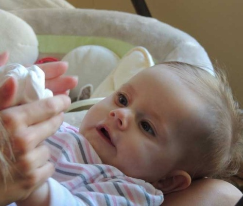 "thedailyfeed:  RIP: Avery Canahuati, the 5-month-old baby whose ""bucket list"" blog about living with a degenerative muscle disorder captivated millions worldwide, died yesterday. The final item Avery checked off her list: ""Not let SMA take my smile away.""  Donate here"