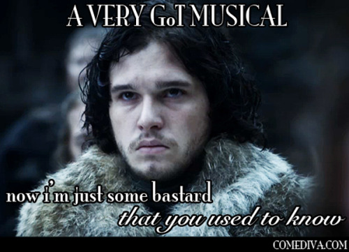 "PHOTO SERIES: ""A Very Game of Thrones Musical"" poor bastard."