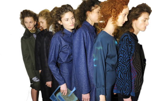 the girls backstage @ the FW 2012 show.