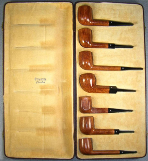 Comoy's 7 day pipe set. Not quite as elegant as the Dunhill set I posted earlier in the year but still pretty effing cool.