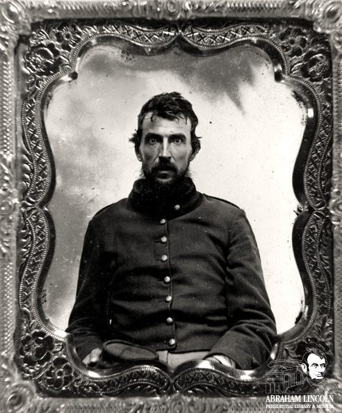 Boys In Blue: 1st Lt. Michael F Swartzcope, 31st Illinois Infantry, Company A Michael F. Swartzcope of Illinois stood six-foot-five and a half and at 41 years of age he mustered into the 31st Illinois Infantry as a Private. Census records tell us that Michael worked as both a cooper and a surveyor before the war began. Over six foot tall and a surveyor…sound familiar? By the end of the war, Michael was promoted to 1st Lieutenant and Quartermaster. Michael's Lincolnesque life continued after the war; Lincoln was a lawyer, and Swartzcope followed a law career as well, serving as a judge in Jackson County, IL from 1865 to 1869. Judge Swartzcope passed away on March 22, 1901 at the age of 80 at the Home for Disabled Veterans in Danville, IL.  ©2012 Abraham Lincoln Presidential Library and Museum
