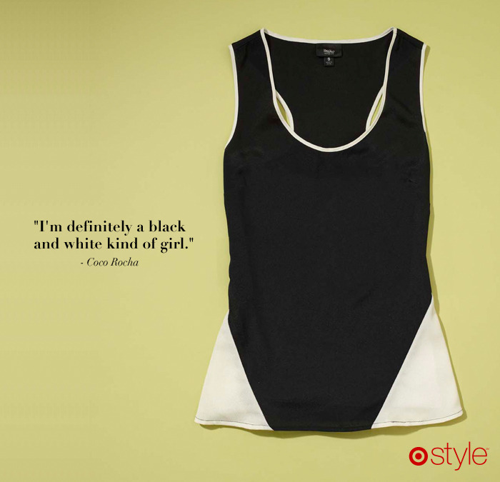 Coco Rocha's Must Haves own it: The Staple Black Tank.
