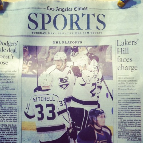 lakings:  Front page news (Taken with instagram)