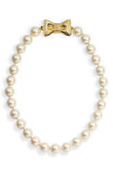 likewhoabows:  kate spade new york 'all wrapped up' glass pearl short necklace