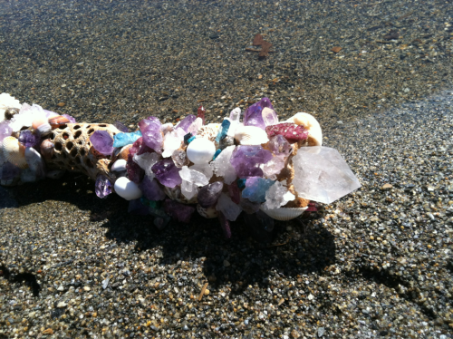Crystal Healing Wands Since ancient times, crystal wands have been used for healing by healers all over the world. Some believe that they were even used by crystal healers in Atlantis. Today, crystal wands are still a common tool  used by healers around the world. We custom make many Crystal Ascension Wands ( as the one you see above) which all are reiki charged , charged under full moon light and sunlight to bring the crystals to their highest vibration. If your are interested in a custom healing wand email thenewagegirl@aol.com We can make a wand according your specific energy needs, be it health, love,  , healing. Ascension wands are our passion made with light and love And passing down the tools  from our ancestors that connect us to the cosmos and all that is. Light and Love ,  The New Age Girl