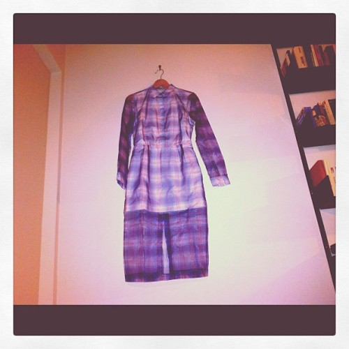 Hello Raf Simons for Jil Sander SS12 #tartan #organza #womenswear  (Taken with instagram)