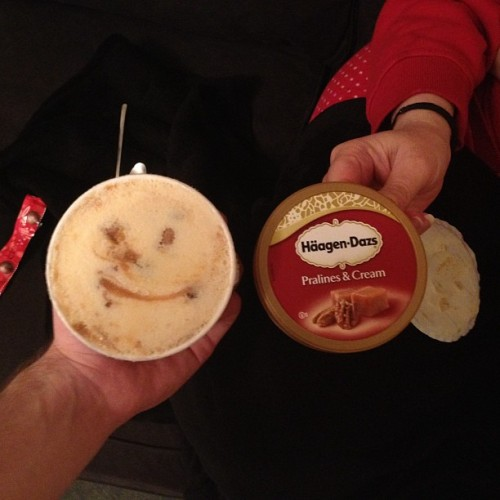 Is the ice cream meant to look like a face? (Taken with instagram)