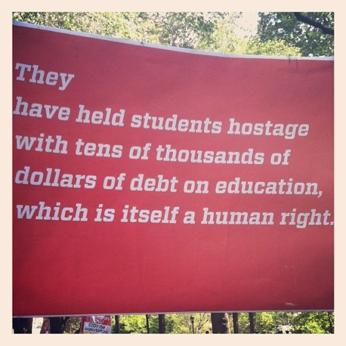 #ows #organizing #mayday #freeeducation (Taken with instagram)