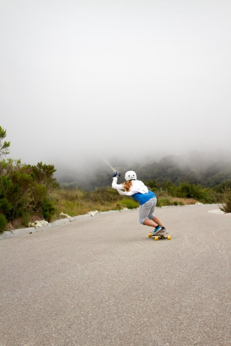 loveonalongboard:  That's me!  Daisy about to skate through Cloud 9 at the First ILL Slide Jam. April 2012.  Photo by Ari Chamasmany.  Daisy, I can't even begin to tell you how beautiful it's been to watch your love for skateboarding grow, and not to mention your unbelievable (and seemingly fearless!) progression over the past eight months. Oh hey, it's our first race this weekend - let's do this!