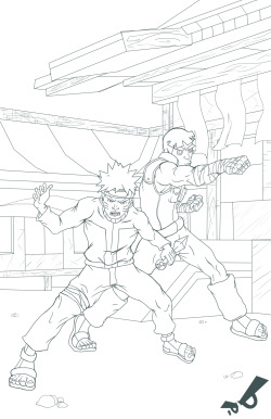 My two favorite Naruto characters ready to kick ass and such…..