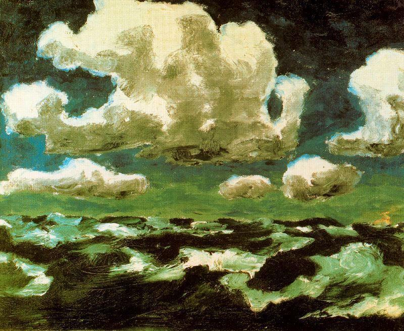 2headedsnake:  theredlist.fr Emil Nolde, Clouds in Summer, 1913, oil on canvas