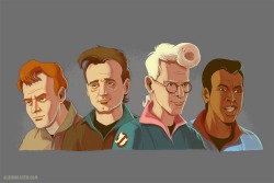 Art imitates life..imitates… It's the cast of the Real Ghostbusters animated series with the actual likenesses of their movie counterparts. There.