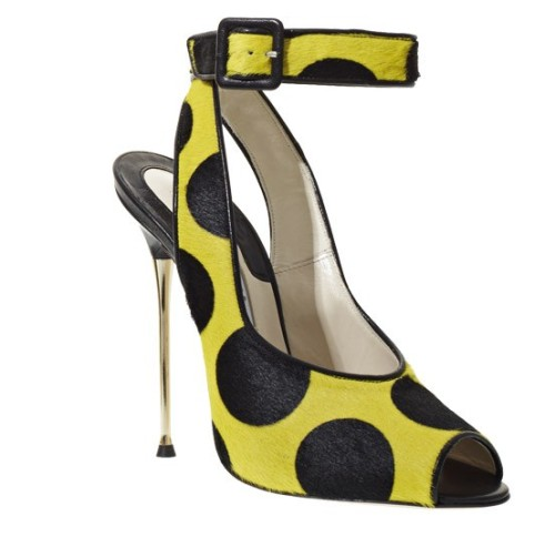 Online Find- Brian Atwood MAXI BIS Pumps in Lemon Polka Dot Pony