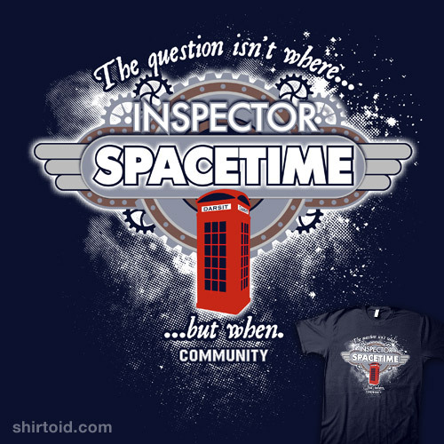 shirtoid:  Inspector Spacetime available at NBC Universal Store