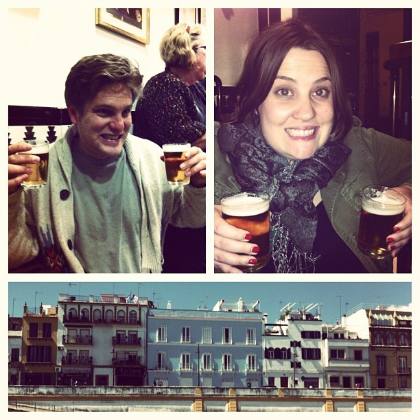 Double fisting #beer #españa #sevilla #vacation  (Taken with instagram)