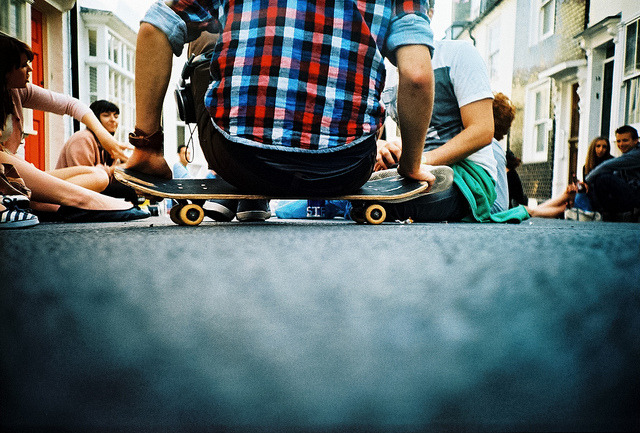 low down at street party by lomokev on Flickr.