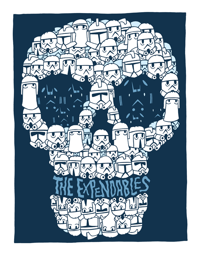 somewhereontheiceplanet:  The Expendables by Dan Hipp
