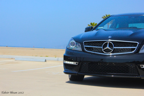 Let's go to the beach. C63 AMG Coupe.