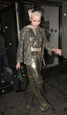daphneguinness:  Daphne Guinness leaving The Ivy, May 2012.