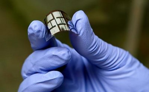 Powerhouse Solar Cell Inspired by Leaf Biomimicry A team of scientists headed up by Princeton University has achieved a whopping 47 percent increase in electricity generation from flexible plastic solar cells, simply by texturing the surface to mimic the wrinkles of a typical leaf. Full Story: Cleantechnica via emergentfutures: