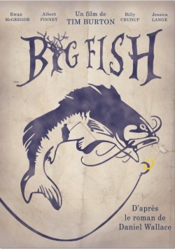 Affiche vintage du film Big Fish de Tim Burton  2012