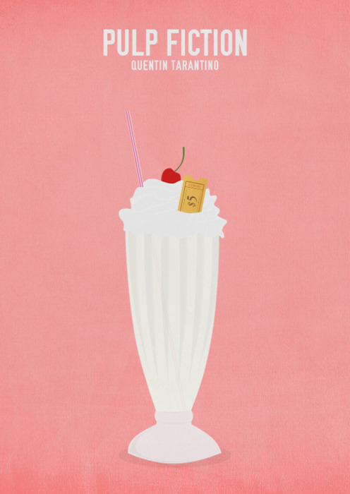 minimalmovieposters:  Pulp Fiction by butterfly-being