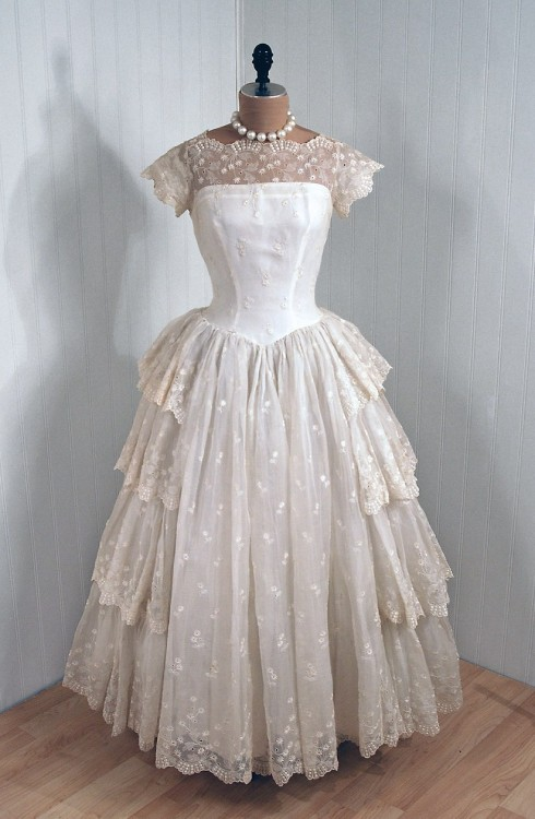 Wedding Dress 1950s The Metropolitan Museum of Art