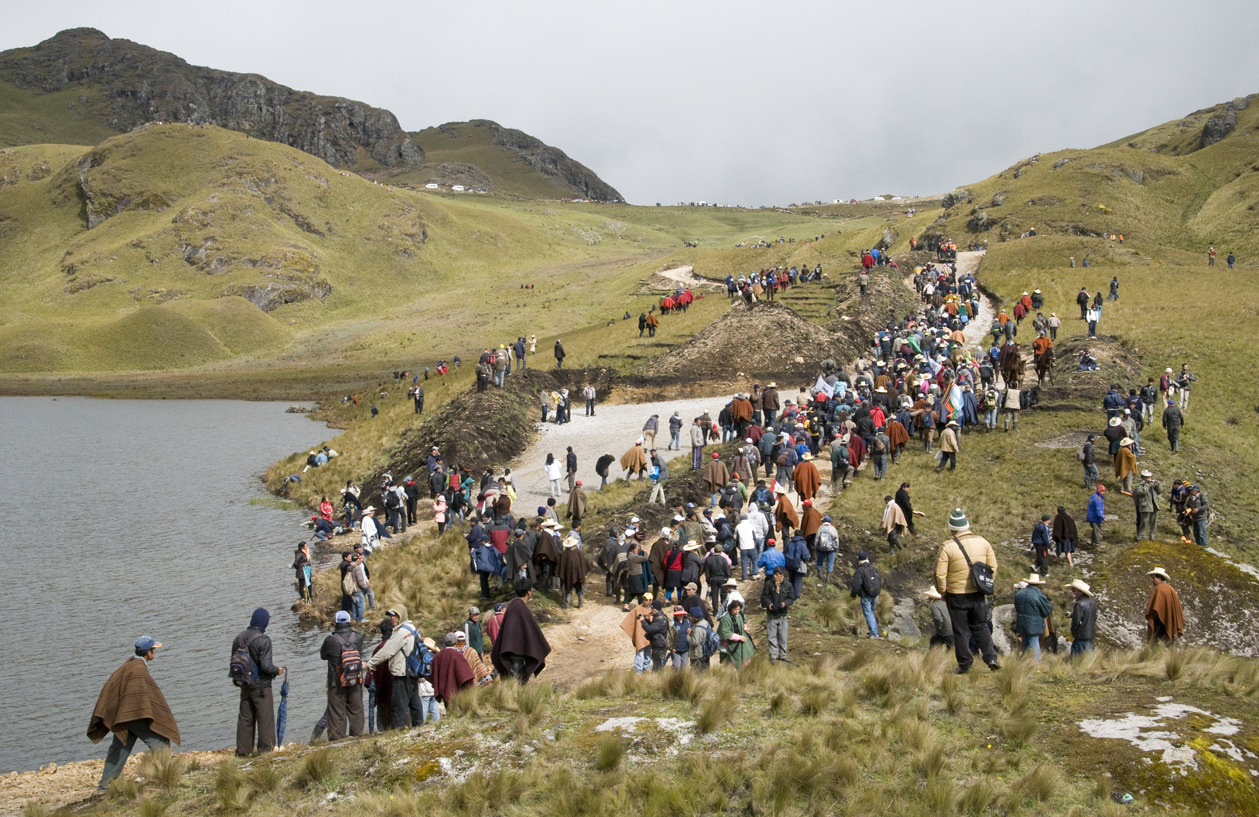 "Interview with Reinhard Seifert: Scientist Calls Peru Conga Mining Project an 'Environmental Disaster' This article is part of a series on resistance to mining in Cajamarca, Peru, written by Alice Bernard and Diego Cupolo. It was originally published on UpsideDownWorld.org on May 1, 2012.  Over the last three decades, German-born environmental engineer Reinhard Seifert has played a significant role in the movement against mining operations in Cajamarca, Peru. He is former president of the Frente de Defensa Ambiental de Cajamarca and has conducted extensive research on the effects of mining on the region's water resources.    For his actions, Seifert has been persecuted, threatened and arrested, but he continues his work as the Peruvian government currently weighs its decision on the future of the Conga gold mine. If approved, the project would give Denver-based Newmont Mining Corp. the ability to construct one of the world's largest gold mines on fragile, high-altitude wetlands.    Seifert has lived in Cajamarca with his family for more than 35 years and specializes in hydrogeological sciences.    Let's start simply: Can you tell us why the Conga Gold Mine project is facing so much resistance from residents in the Cajamarca region?    Well, that's very simple. It's been about twenty years since Newmont opened its Yanacocha gold mine in Cajamarca. In the beginning they promised to bring new jobs to the area and said the mining process wouldn't contaminate the environment, but neither of those things happened. The jobs went to foreigners and people from other regions while heavy metals and other toxins were dumped into our water supply on a daily basis.    But the water issue is just one part. The resistance also comes from Newmont's horrendous mining practices, its lack of serious environmental studies and the lack of regulations due to widespread corruption. Newmont is free to do what it pleases as the rest of us suffer.    After twenty years, the people of Cajamarca have seen how Newmont works and they won't be fooled again. That's why they're so determined to stop Conga. The project is basically an expansion of the Yanacocha mine, but it will be much bigger and much worse. They want to go into an area that supplies our drinking water and replace four high-altitude lakes with toxic waste dumps and artificial reservoirs.    Why should we, the people of Cajamarca, drink artificial, contaminated water for the profit of a foreign-owned private company?    You've conducted many water quality studies in the Cajamarca region. What kinds of contamination are you finding?    Now, I can tell you for sure that there is contamination with arsenic and heavy metals in the region's largest rivers. Since Yanacocha opened, we've noticed livestock have been loosing their teeth and trout have died by the thousands in rural areas.    A normal pH for water is 6.87. When it goes under 5 the water becomes acidic and trout begin to die. In the Rio Grande and Rio Porcon, the two biggest rivers supplying Cajamarca's drinking water, we observed a pH of 3.5. It's catastrophic.  Are there any regulations on the amount of pollution these industries can release into the environment or water sources?  Well, yes, but they're not being followed and they're not being enforced. Newmont has bought off most of the judges and politicians in this country so they can operate freely and as they call it ""legally"", without even conducting studies on the effects of their mining. They refuse to admit any kind of contamination.  Furthermore, they have the guts to come and tell me my results over water analysis are wrong, that I'm twisting information and misinforming the people of Cajamarca. There is one thing I cannot stand, it's when people take me for a fool. Studying the contamination of water is working with exact numbers and precise mathematics.  The facts speak for themselves. If you're Muslim and I'm Christian then yes, we can argue or fight. With science that doesn't work. In the facts, the water we consume in Cajamarca barely qualifies for Class III levels, which is supposed to be used strictly for agriculture. Class I and Class II are for human consumption and we haven't had that since the mining started.  But the state doesn't control any of this. They simply tell us the water quality is at legal levels without having the capacity or technology to test mining contaminants in the water.  Can you explain in more detail how Newmont extracts gold at the Yanacocha mine and how they handle their waste?  The extraction process is very different from what most people imagine when they think of gold mines. Newmont is not finding gold nuggets in a cave, it is collecting tiny, microscopic fragments of gold from large quantities of dirt and sand that they excavate from gigantic open pit mines.  They have to use a mixture of water and cyanide to separate the gold fragments from the dirt. The process obviously produces large amounts of toxic waste water. This requires very specific technology, for example, powerful water treatment plants and top-notch waste storage facilities, all of which are completely absent from Yanacocha.  Because Newmont lacks these technologies, the water does not get fully treated and it gets dumped into waste reservoirs where it leaks into the subterranean water table along with the cyanide and many other chemicals like lead, arsenic and mercury.  This process is being used at Yanacocha and it will be the same for Conga. It's an environmental disaster. As far as I know, Newmont's mining practices are prohibited in all the European Union, the United states, Argentina and Germany. The chemicals they dump in our water system can't be boiled out. We, as Cajamarcans, consume them every day.  Have there been any documented health problems linking the gold mines to specific illnesses in the Cajamarca region?  The thing is that cancers and other contamination-related illnesses are hard to track. Toxins build up in your body over time. It's like smoking cigarettes. One won't kill you, but 10 years of smoking will. Usually, we find the illnesses 20 years after exposure and by then it's usually too late.  Newmont is one of the biggest mining companies in the world, don't they have the capacity to reduce the environmental impact of their operations?  Yes, Newmont has the money to improve it's technology. If it wanted to, it could easily shift to a cleaner, more environmentally friendly technology. There are two reasons why it doesn't do it. First, for the higher costs, but mostly because they would have to admit publicly that their old technology did contaminate and wasn't adequate. Obviously, Newmont will never concede such a thing and therefore will go on with its old practices. Anyways, they are given no restrictions, they feel no pressure from the Peruvian government to improve anything.  Earlier you also hinted that government corruption plays a role in the Conga issue. Can you expand?  In Peru, corruption is our daily bread. The Peruvian state acts like Newmont's twin brother. They're the same. Normally, you want a government to be impartial and regulate industries, but here the ""revolving door"" principle is everywhere and even Ollanta wouldn't be able to change this.  An example? Carlos Martinez, ex-functionary of Peru's Ministry of Agriculture, was the one in charge of giving out the permits for Yanacocha's free use of the subterranean and superficial waters in Cajamarca. Back then, he was being paid around 700$ a month. Now the same person works for Yanacocha and makes millions of dollars a year while Newmont pays absolutely nothing for the water they use in their operations.  The examples are everywhere. Sons of supreme court judges work for Yanacocha. Sons of fiscals too. If we want to make a serious effort to resolve anything in Peru, first we have to put an end to government corruption, and then we can focus on the problems caused by foreign mining companies.  Do you have any future actions planned concerning Newmont and the Conga project?  I'm actually in the process of writing a book about the hydrogeological systems in Cajamarca, but I also have bigger plans in mind concerning Newmont, only I can't tell you about them right now. It would ruin the surprise. Sorry.  Any last words?  Water respects natural laws. It infiltrates everything it can find, goes where it pleases and supplies all the rivers it can reach. The water on the proposed Conga site flows down both sides of the Andes to the Pacific, the Amazon, and to the Atlantic.  It's simple, the top nourishes the bottom. What happens when the mine chops up and dries the whole top? The very source of it all? The whole cycle is destroyed. And what will we do then?  Water is our most important resource. Forget about gold or copper or all those so-called precious metals. So far, their exploitation hasn't improved the lives of most people in Cajamarca and, at this point, I don't think it ever will."