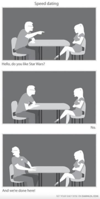 if i were to speed date lol thanks, mayra haha #starwars