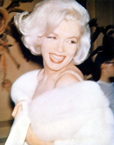 Marilyn at John Kennedy's birthday in 1962.