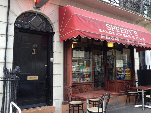Tumblr 50 Day England/Europe Challenge - Day 8: Eat at Speedy's Sandwich Bar & Cafe. 187 North Gower Street London NW1 2NJ England.