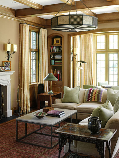 georgianadesign:  Designer Nancy Boszhardt  I'm quite liking this room.  It's got personality and looks like someone actually lives here.
