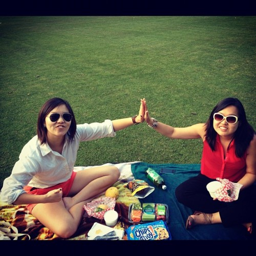 Victory picnic with Victory Sandwiches and ramen @kangsohyoung @janisyanis (Taken with Instagram at Oglethorpe University)
