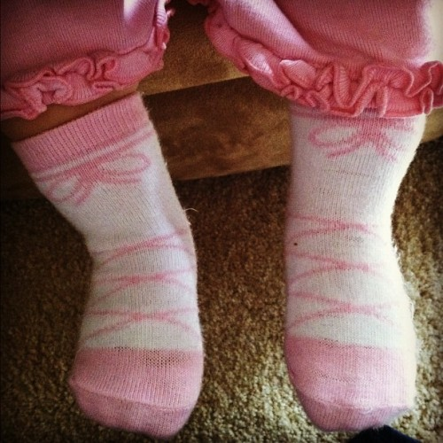 Ballerina socks! (Taken with instagram)