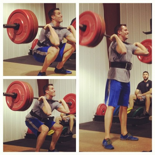 Jake hitting 225lb front squats tonight & making them look too easy! #crossfit @crossfitbn (Taken with Instagram at CrossFit Bloomington-Normal)