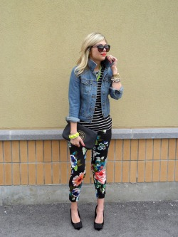 theglitterguide:  Stripes + Floral How do you sparkle? Show us here and you may be featured on our Tumblr.